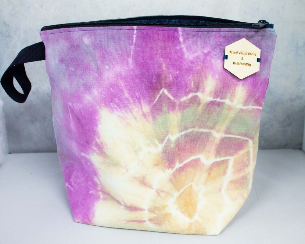 Solar Storm ~ Hand Dyed Project bag