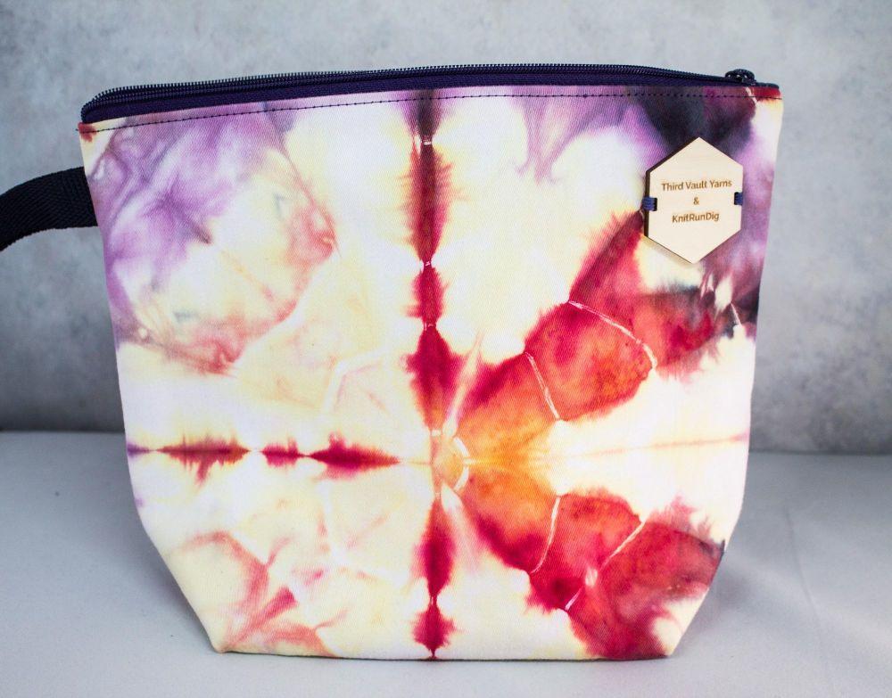 Sun Burst ~ Hand Dyed Project bag