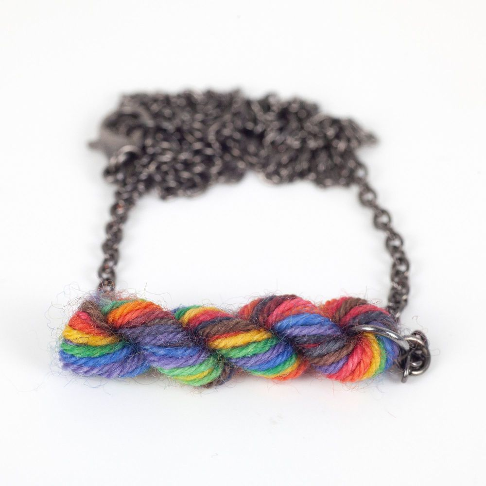 Pride Yarn Necklace