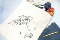 Spaceship Heist Tote Bag
