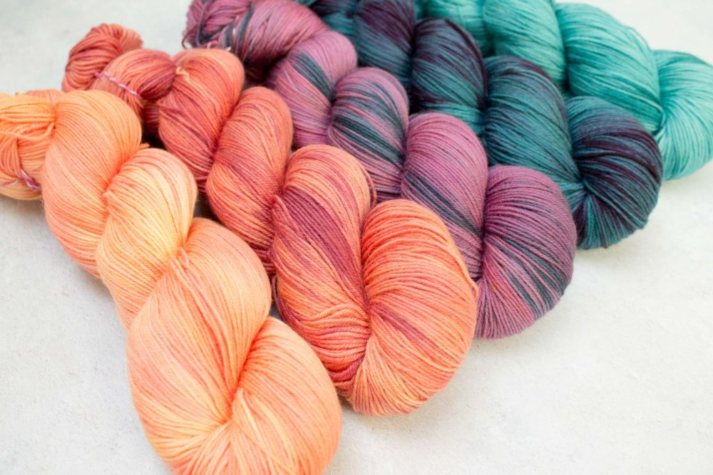 Sunset over water ~ gradient set ~ Sock weight