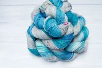 Water Sphere ~ Spells Collection- Self striping sock