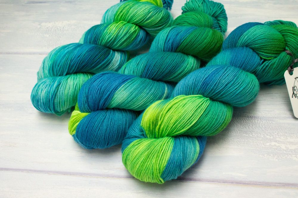 Kaiju Blue - 4ply & sock