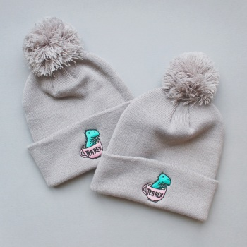 Tea Rex Bobble Hat