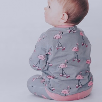 Roll with it Flamingo Top