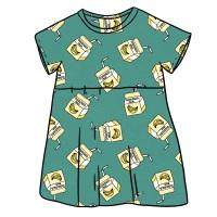 Banana Milk Smock Dress
