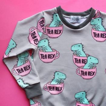 Tea Rex long sleeved top (Ready made)