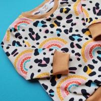 Rainbow Leopard Long sleeved top (Ready made)