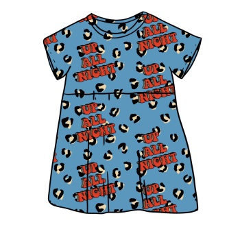 Up all night Blue Smock Dress