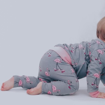 ROLL WITH IT Flamingo Leggings (Ready made)