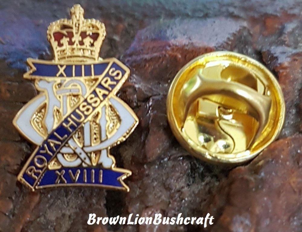 The Royal Hussars Lapel Pin Badge