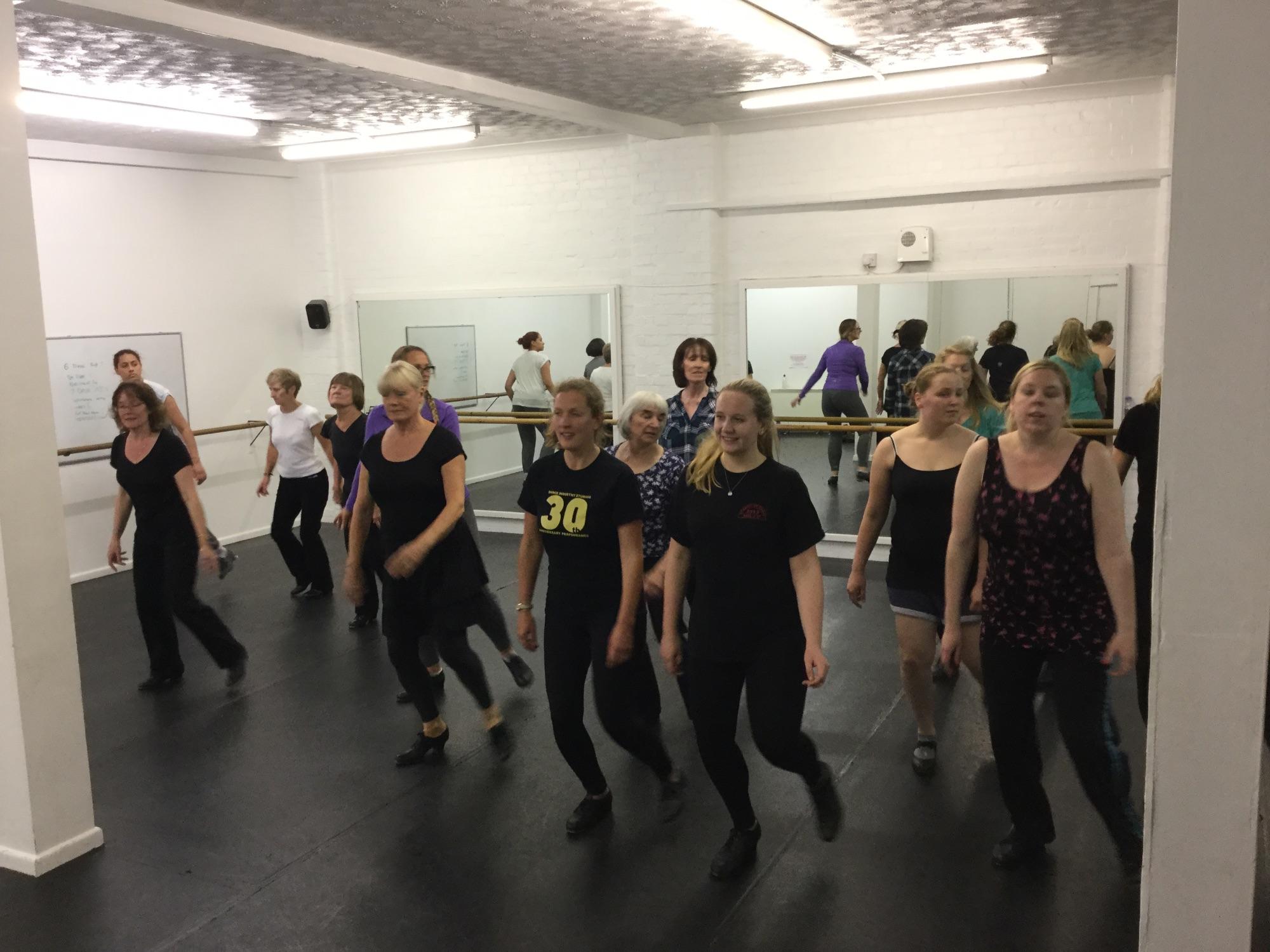 Adult tap dance
