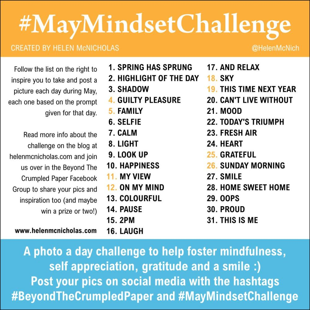 MAY MINDSET CHALLENGE PROMPTS