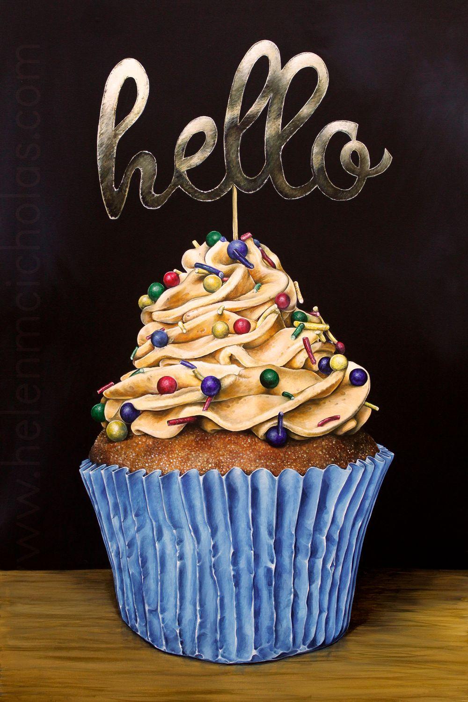 'Hello Cupcake' - Original Painting
