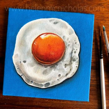 Sunny Side Up - small original painting