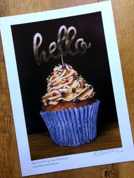 Signed Print - 'Hello Cupcake'