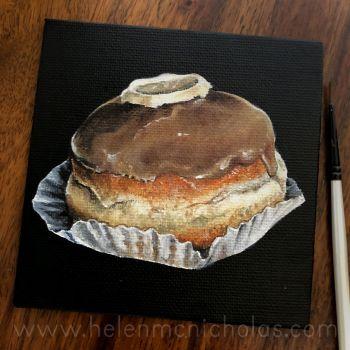 Caramel Doughnut - small original painting