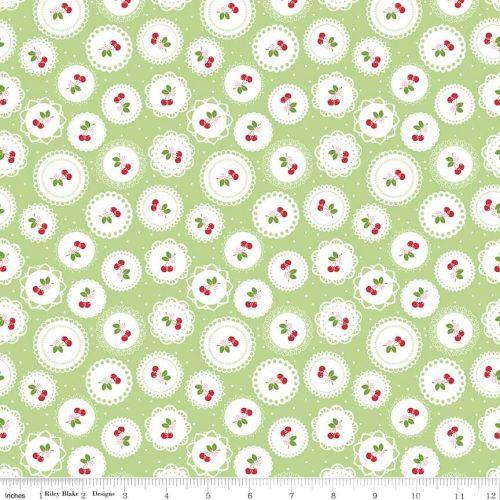 Sew Cherry Doily green