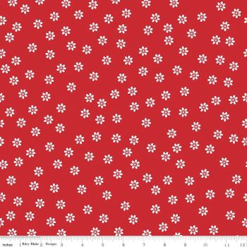 Sew Cherry Daisy red
