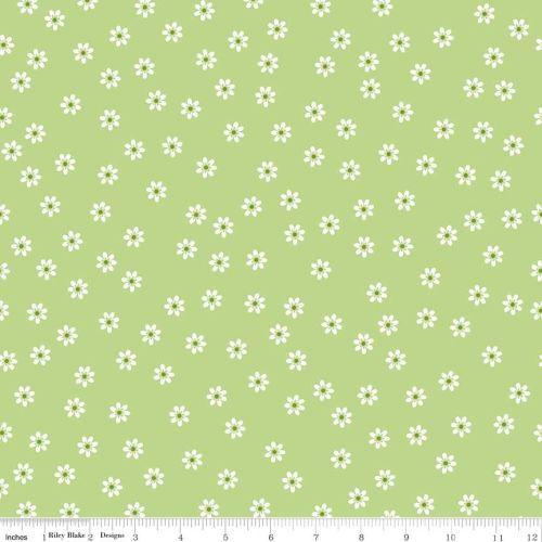Sew Cherry Daisy green