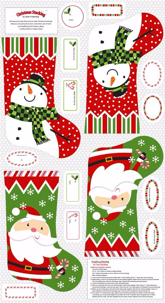 Christmas Wish Stocking Panel