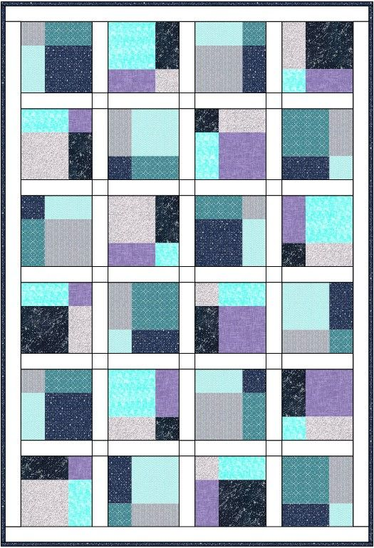 Night Sky Quilt Top Kit 44