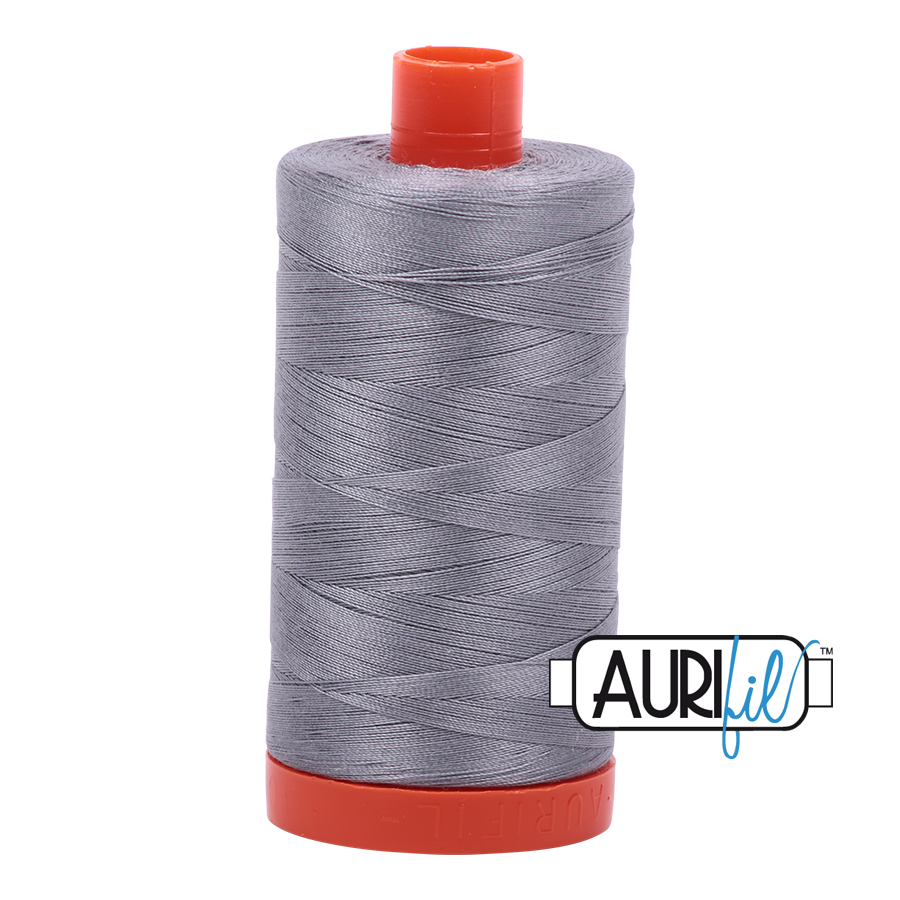 Aurifil 50 weight: Greys, Black