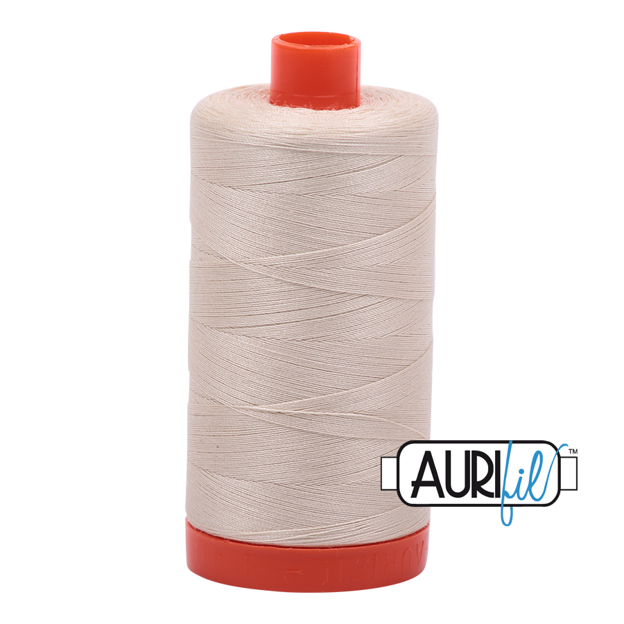 Aurifil 50 weight: White, Cream, Beige