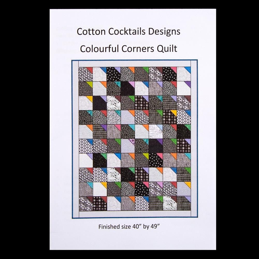 Pattern Colourful Corners Quilt