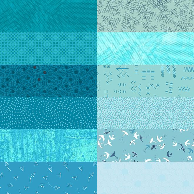 10 Inch Squares Pack Turquoise