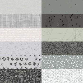 10 Inch Squares Pack Greys
