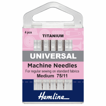 Hemline Universal Titanium Size 75/11 Machine Needles
