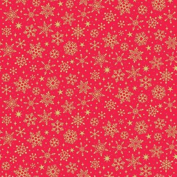 Makower - Yuletide Snowflake - Red