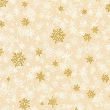 .Robert Kaufman Winter's Grandeur 8 Ivory