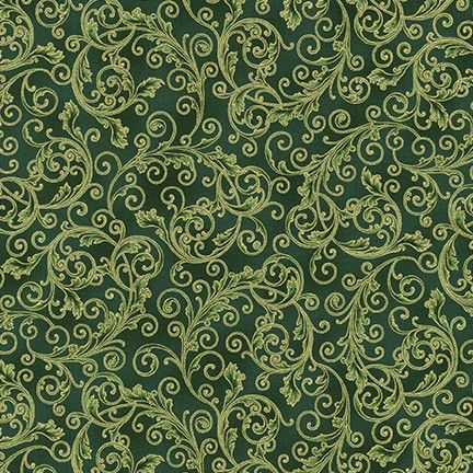 .Robert Kaufman Holiday Flourish 13 Green