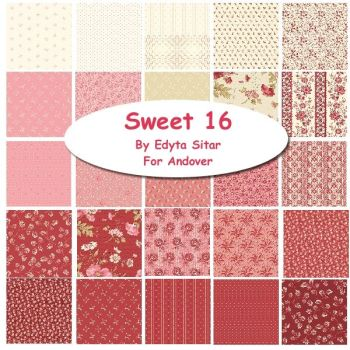 "Sweet Sixteen 10"" Squares Pack  of 21 squares"