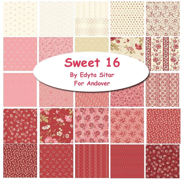 "Sweet Sixteen 10"" Squares Pack"