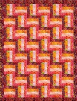 .Rail Fence Quilt Pattern Printed Copy - free postage