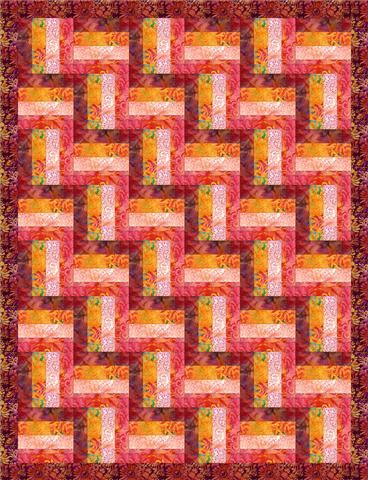 Rail Fence Quilt Pattern Printed Copy - free postage