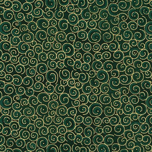 Blank Quilting Spirals- Dark Green