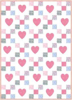 Liberty Hearts Quilt Top Kit - Light