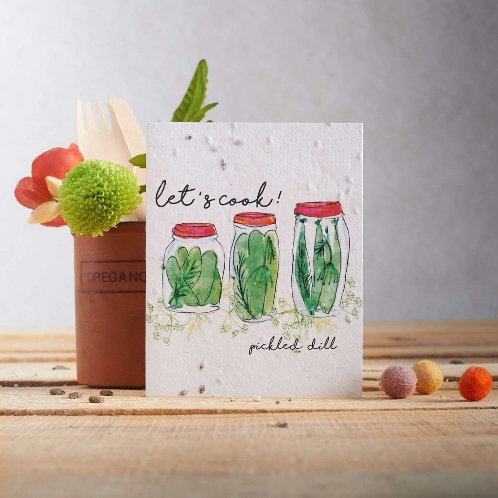 Let's Cook Pickled Dill Card by Hannah Marchant