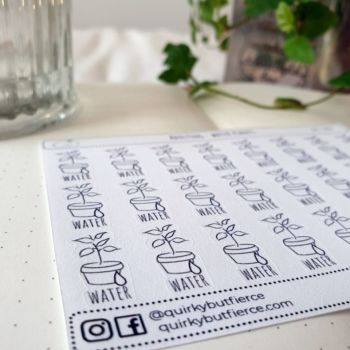 Water Me Stickers