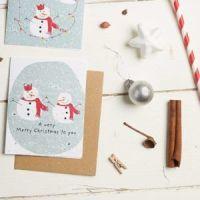 Snowman Couple Card by Hannah Marchant