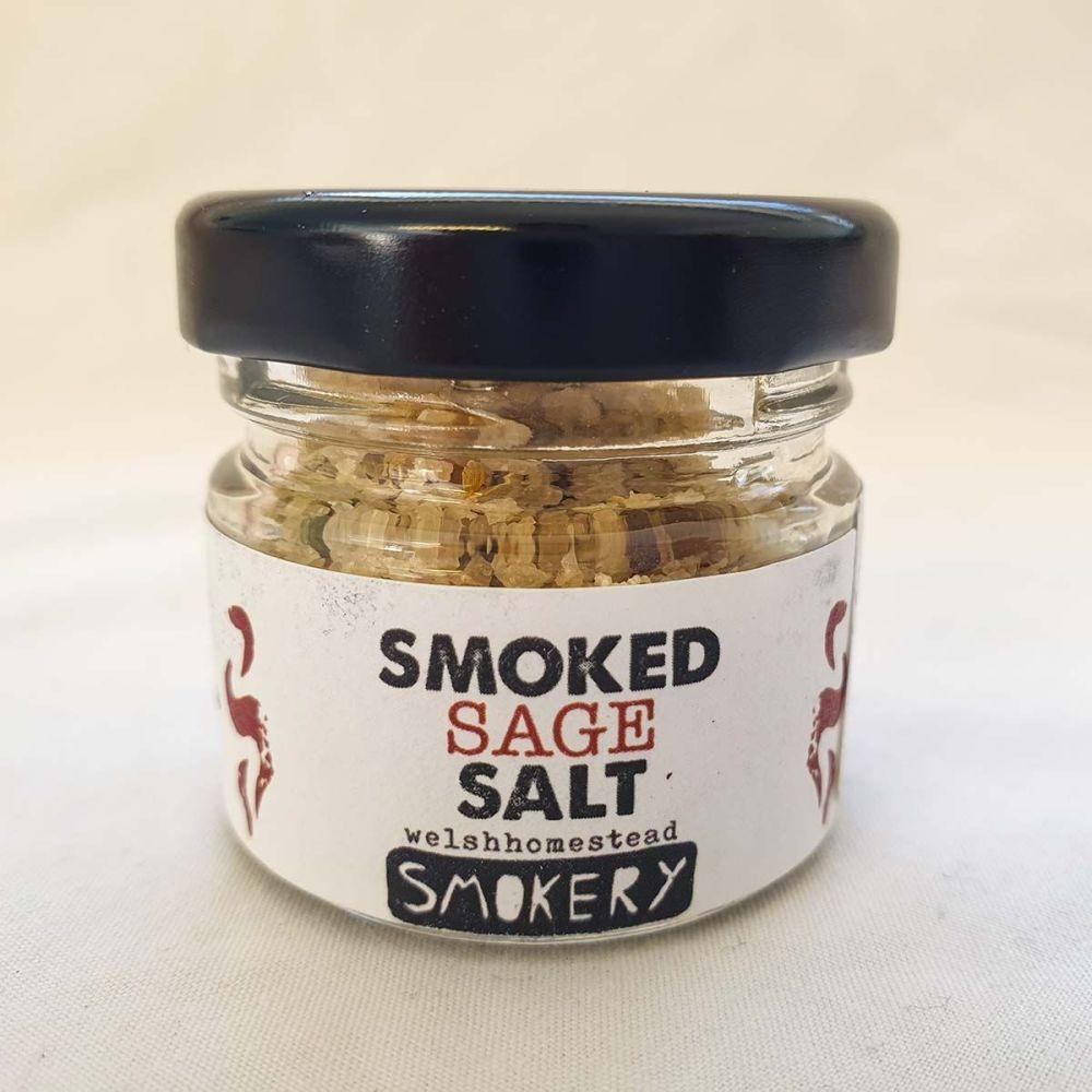 Smoked Sage Salt by Welsh Homestead Smokery