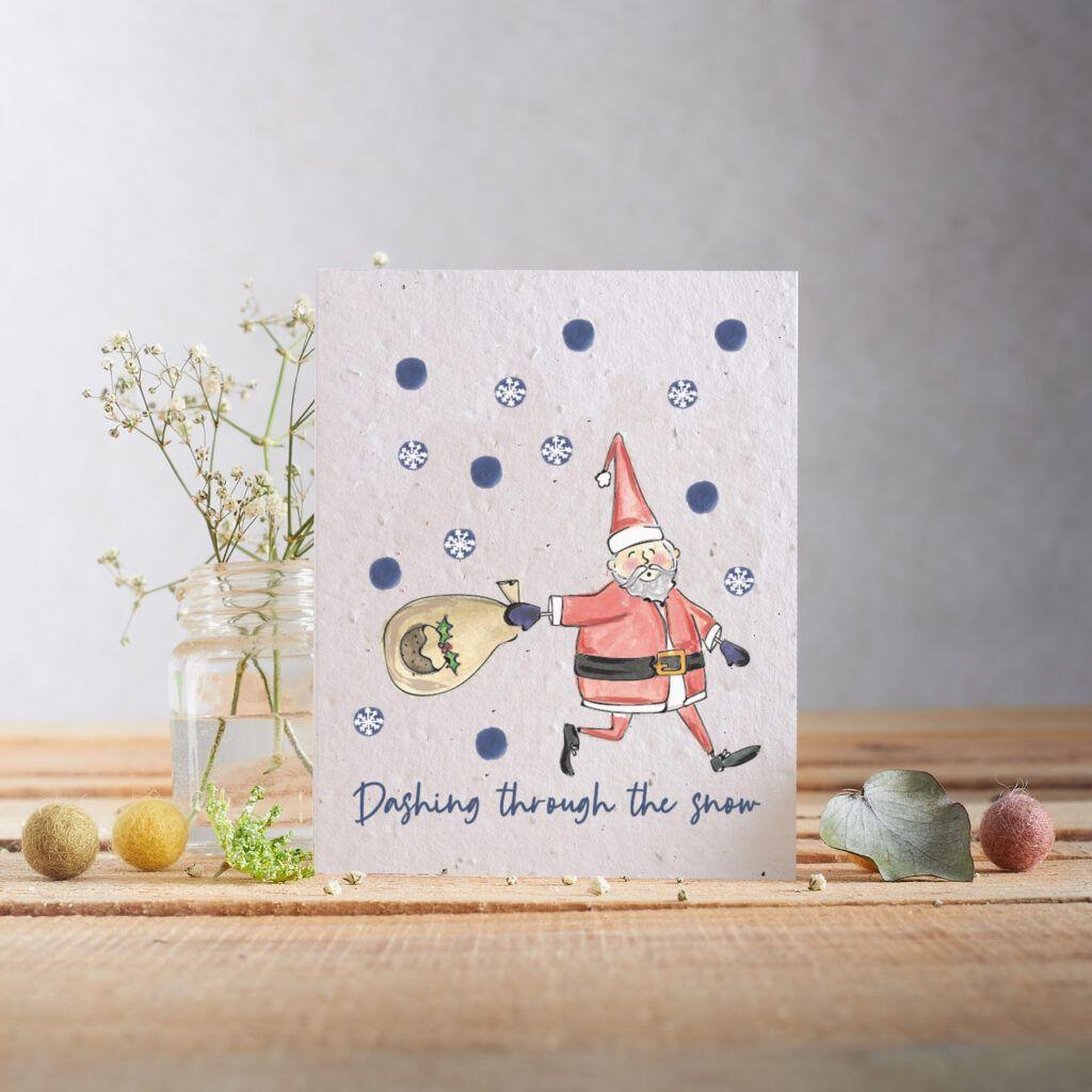 Dashing Through The Snow Card by Hannah Marchant