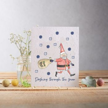 Dashing Through The Snow Card by Hannah Marchant