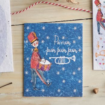 Parum Pum Pum Pum Card by Hannah Marchant