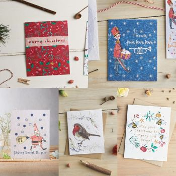 Bundle of 5 Christmas Cards by Hannah Marchant