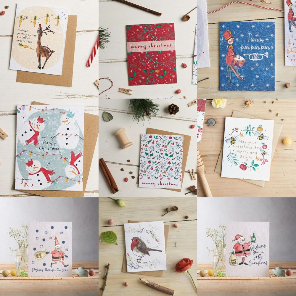 Bundle of 10 Christmas Cards by Hannah Marchant